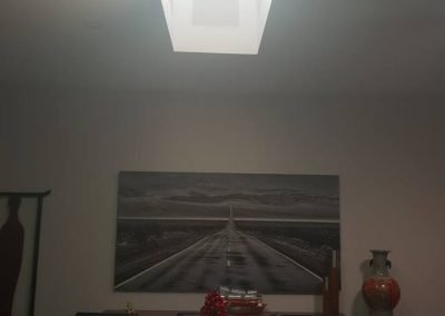 Skylight in dining room.