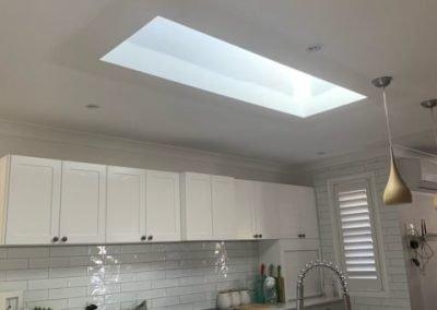 Skylight in kitchen.